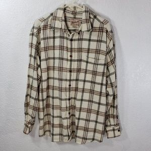 Woolrich Flannel Shirt XL Plaid Cotton W11